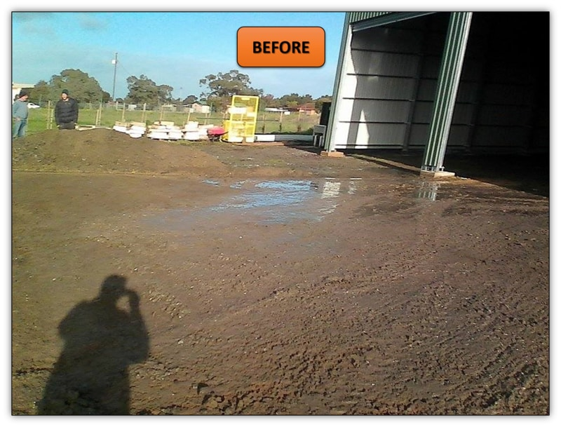 Shed Pad Leveling Bobcat Services Roseworthy