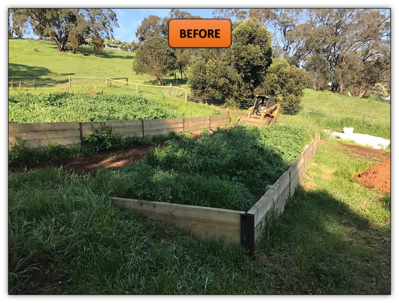 Tiered Vegetable Garden Before My Bobcat Services