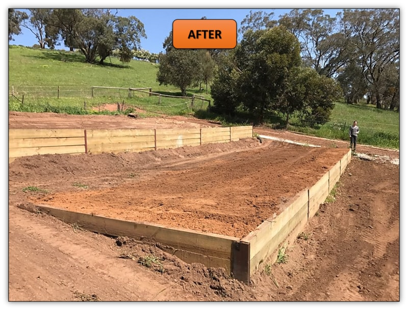 Tiered Vegetable Garden After My Bobcat Services