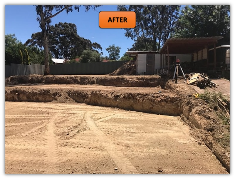 Excavation Services Adelaide - Two Tier Retaining Wall