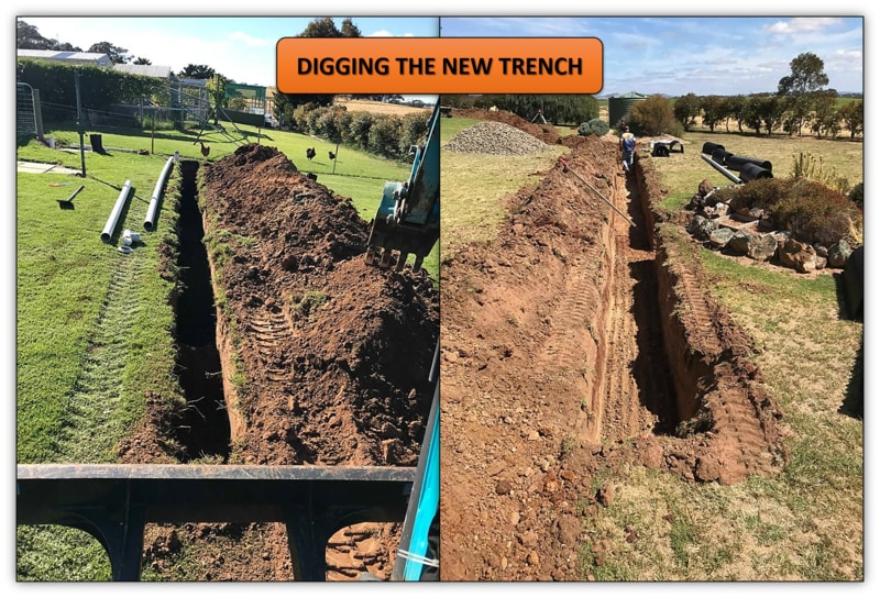 New Sewer Trench Installation Mini Excavator Services Adelaide