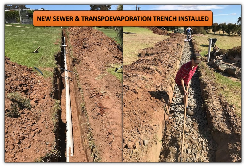 New Sewer Trench Installation - Mini Excavator Services Adelaide