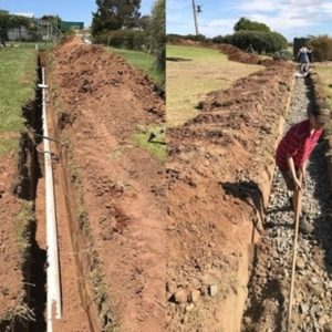 New Sewer Trench Installation - Mini Excavator Services Barossa Valley