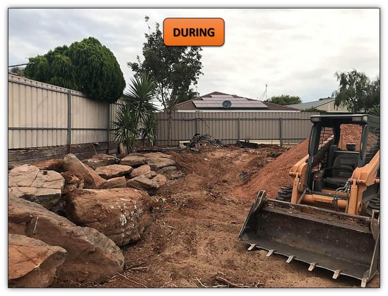 Backyard Retaining Wall Preparation Services Hillbank Adelaide