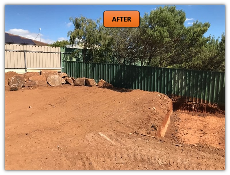 Backyard Landscaping Excavation Services Northern Adelaide
