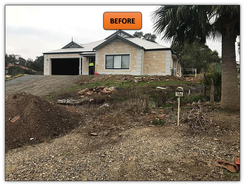 Front Yard Retaining Wall - Earthmoving Services Adelaide