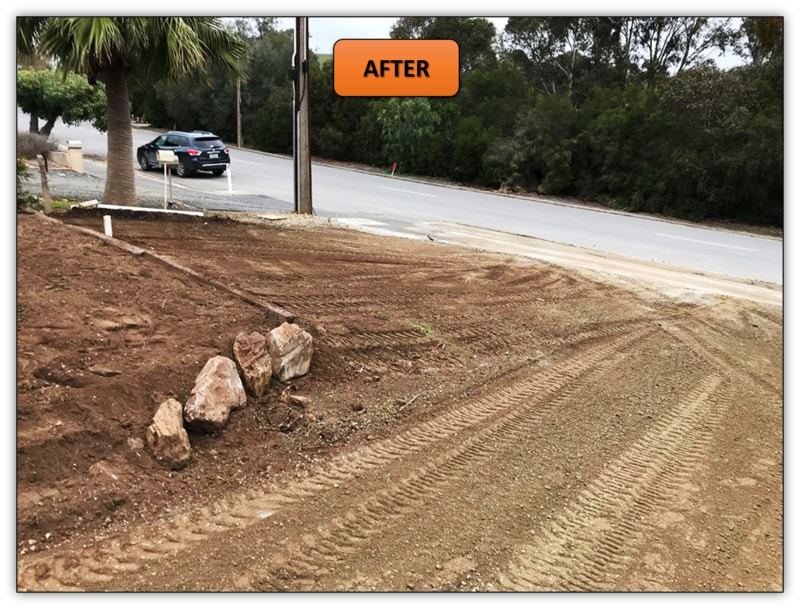 Front Yard Retaining Wall Earthmoving Services Penrice