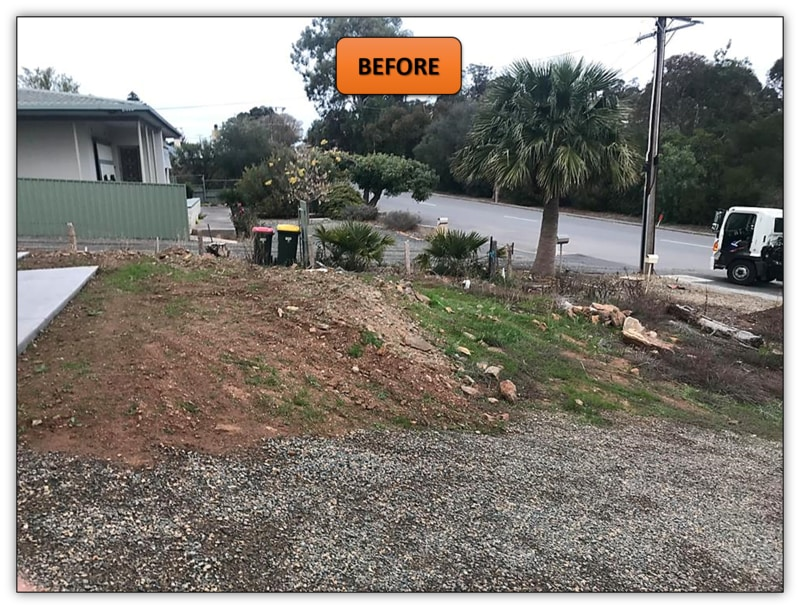 Front Yard Retaining Wall - Earthmoving Contractor Adelaide