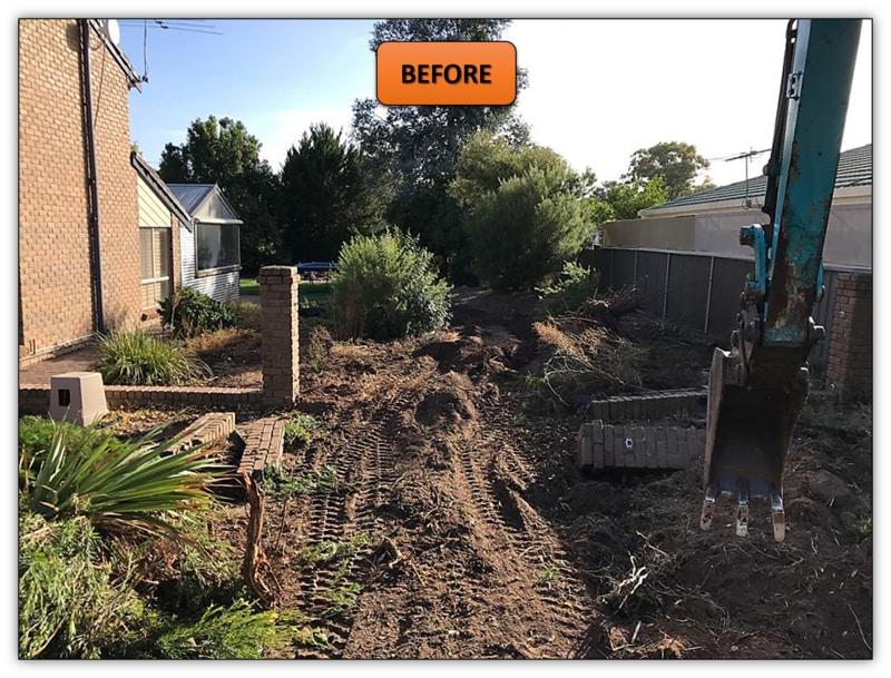 New Turf Preparation Excavation - Tanunda - MIni Excavator Hire Adelaide