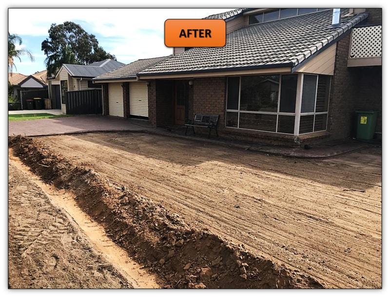 New Turf Preparation Excavation - Tanunda