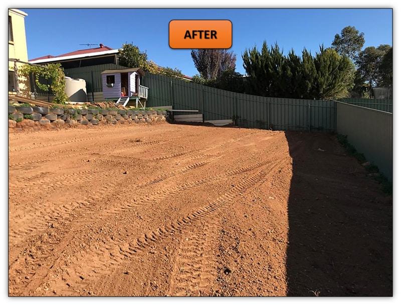 Backyard Retaining Wall Bobcat Services Gawler