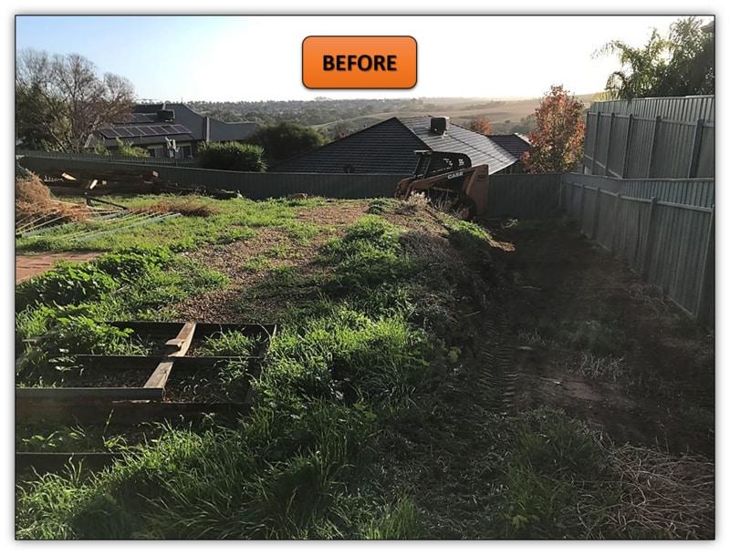 Backyard Retaining Wall - Bobcat Services Gawler