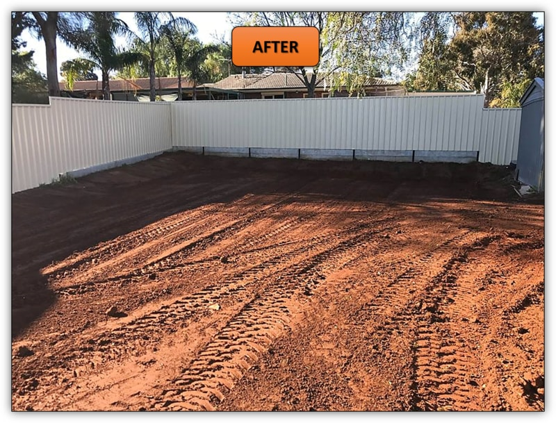 Backyard Leveling For Shed Pad - Bobcat Services Barossa Valley