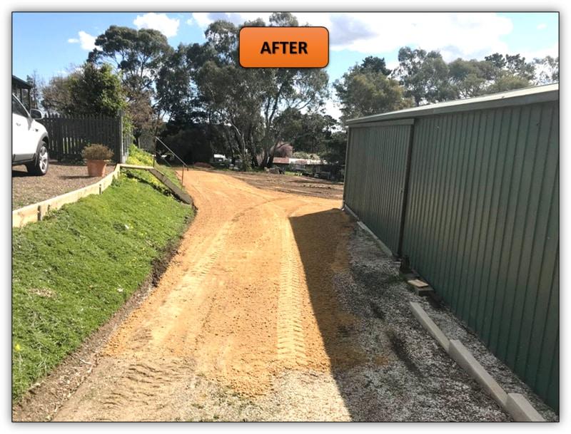 Backyard Leveling & New Driveway