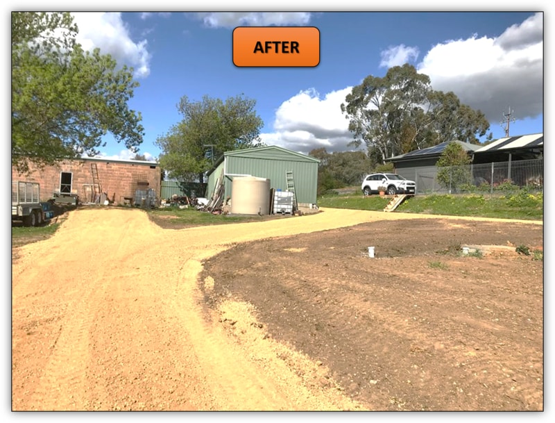Backyard Leveling and New Driveway Williamstown