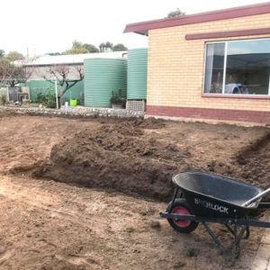 Backyard Patio Area Excavation
