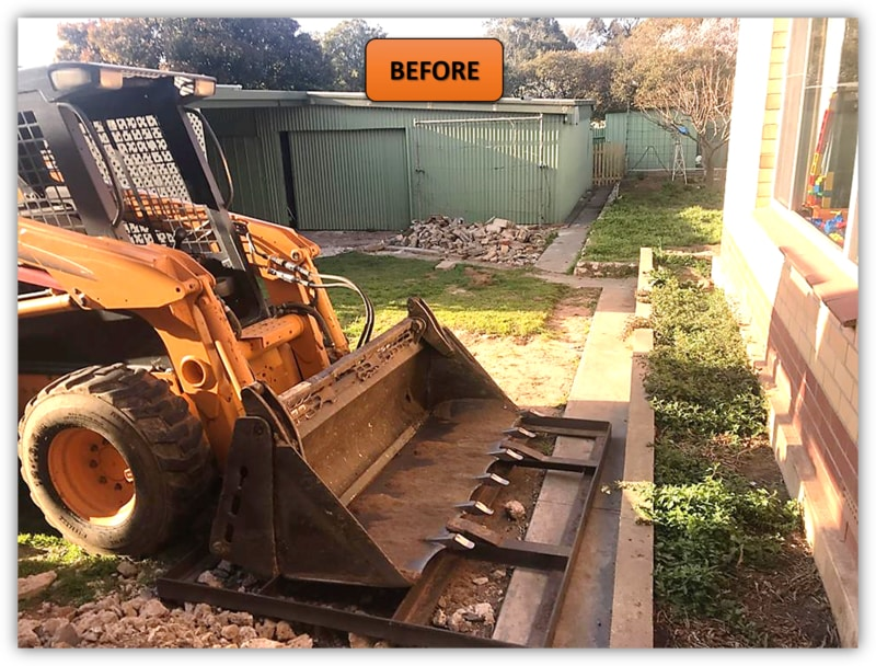Backyard Patio Area Excavation - Angaston