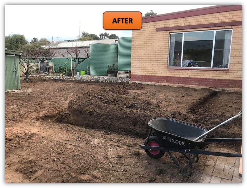 Backyard Patio Area Excavation - Northern Adelaide