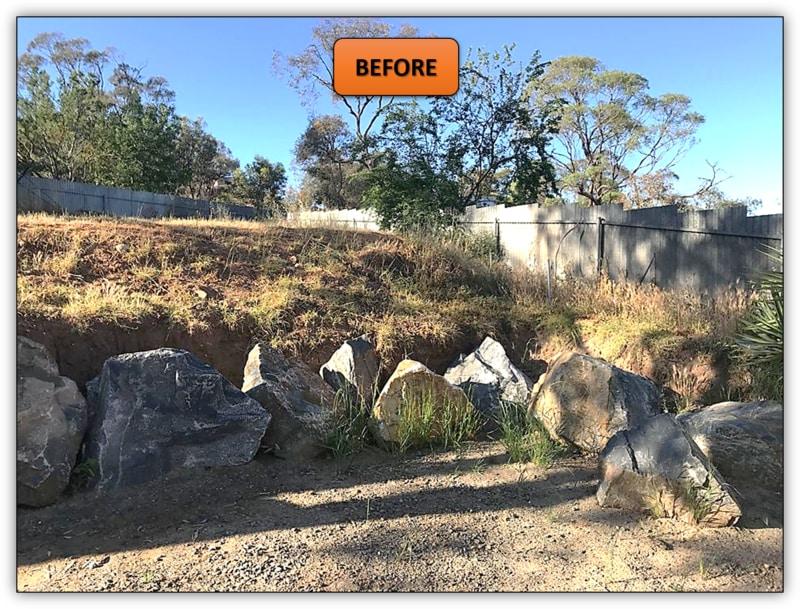 Backyard Rock Retaining Wall Northern Adelaide