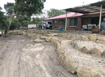 Backyard Rock Retaining Wall