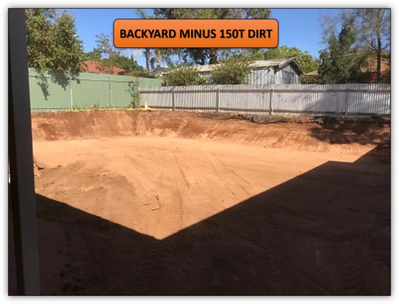 150T Backyard Dirt Removal - Earthmoving Service Adelaide