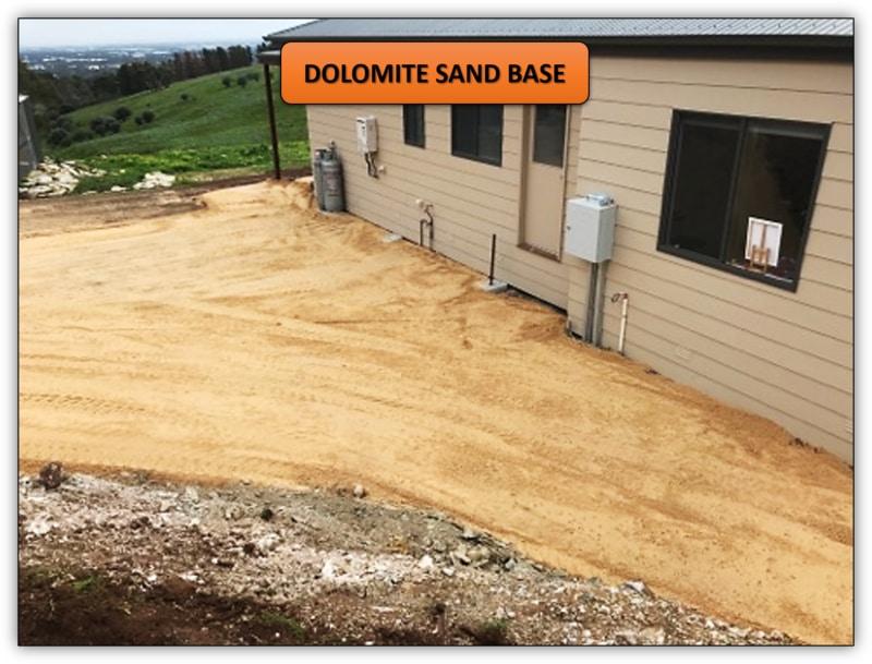 Concrete Preparation - Dolomite Sand