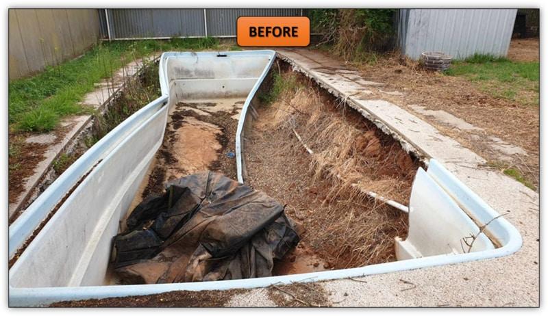 Pool Fill In With Site Cut Elizabeth