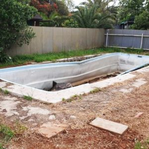 Pool Fill In With Site Cut Elizabeth